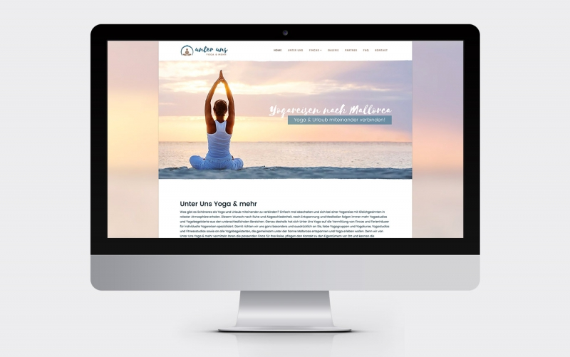 Screenshot www.unterunsyoga.de