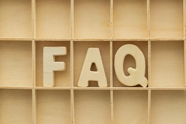 FAQ auf der Webseite