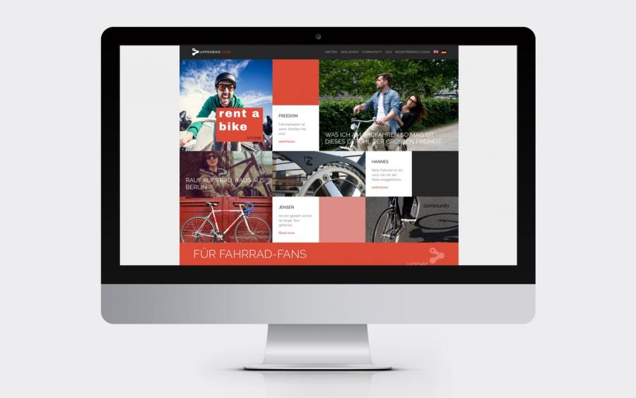 Screenshot Webseite www.upperbike.de