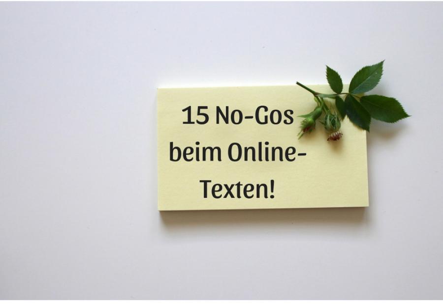 15 No-Gos beim Online-Texten
