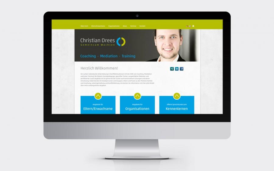 Screenshot Gemeinsam Wachsen Webseite